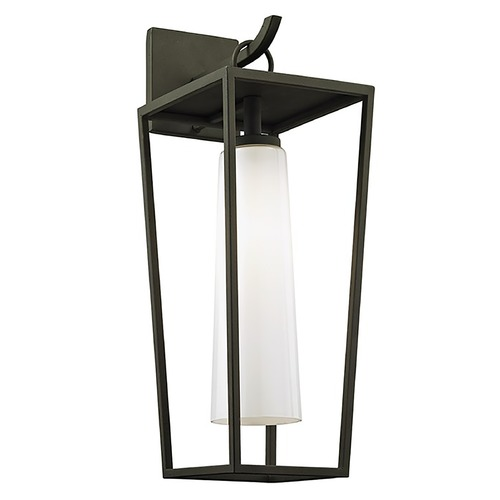 Troy Lighting Troy Lighting Mission Beach Textured Black Outdoor Wall Light B6352