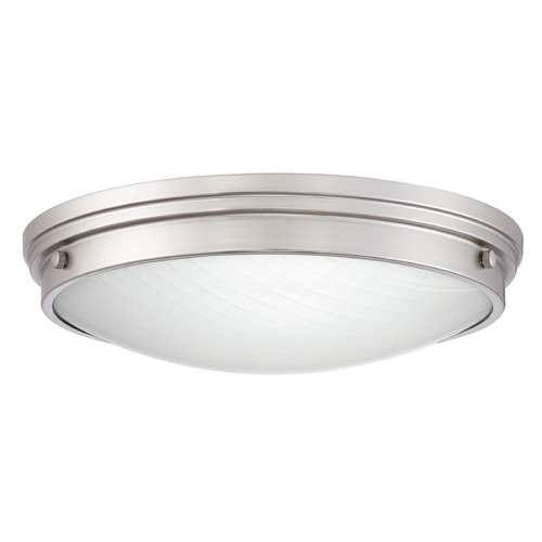 Quoizel Lighting Brushed Nickel LED Flushmount Light with White Shade 3000K 2100LM PRT1616BN