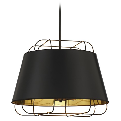 Eurofase Lighting Eurofase Lighting Tura Black / Gold Pendant Light with Empire Shade 38145-025