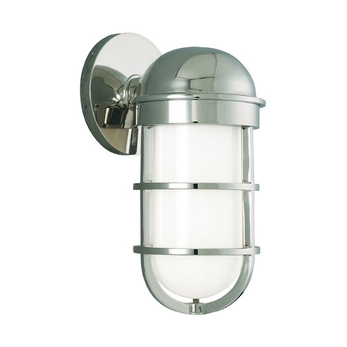 Hudson Valley Lighting Sconce with White Glass in Polished Nickel Finish 3001-PN