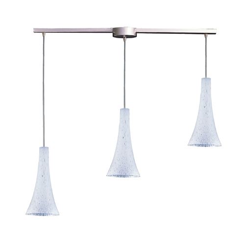 Elk Lighting Modern Multi-Light Pendant Light with Art Glass and 3-Lights 140-3L-SW