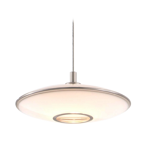 Holtkoetter Lighting Holtkoetter Modern Low Voltage Mini-Pendant Light with White Glass C8120 S006 GB20 SN