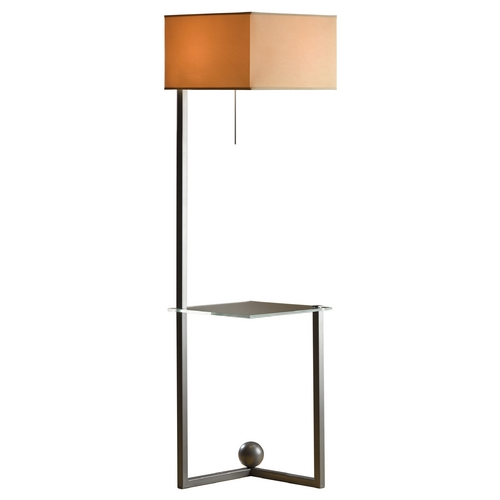 Hubbardton Forge Lighting Hubbardton Forge Lighting Balance Burnished Steel Floor Lamp with Square Shade 244101-08-874