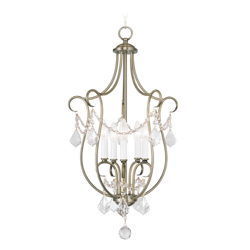 Livex Lighting Livex Lighting Chesterfield Antique Brass Pendant Light 6436-01