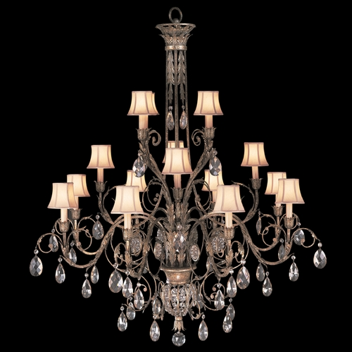 Fine Art Lamps Fine Art Lamps a Midsummer Nights Dream Cool Moonlit Patina Crystal Chandelier 136740ST