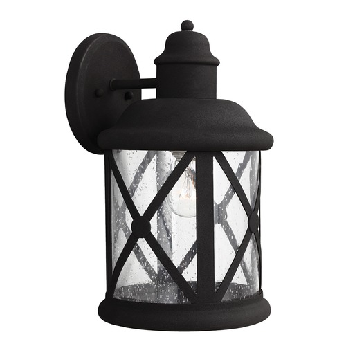 Sea Gull Lighting Sea Gull Lighting Lakeview Black Outdoor Wall Light 8721401-12