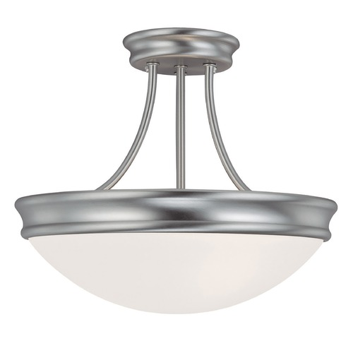 Capital Lighting Capital Lighting Matte Nickel Semi-Flushmount Light 2037MN