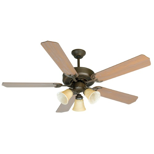 Craftmade Lighting Craftmade Pro Builder 206 Aged Bronze Textured Ceiling Fan with Light K10639