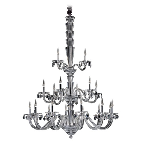 Allegri Lighting Art Deco Chandelier Chrome Fanshawe by Allegri Crystal 11520-010-FR001