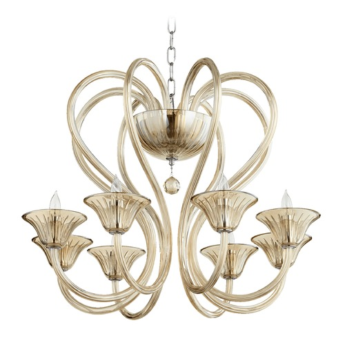 Quorum Lighting Quorum Lighting Vivaldi Chrome W/ Cognac Chandelier 609-8-614