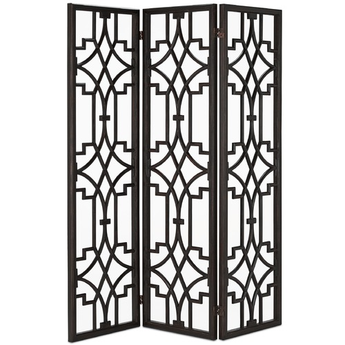 Currey and Company Lighting Currey and Company Nador Dark Mahogany Room Divider 3000-0003