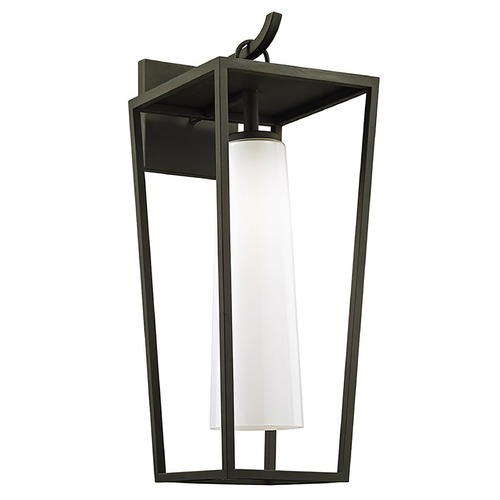 Troy Lighting Troy Lighting Mission Beach Textured Black Outdoor Wall Light B6353