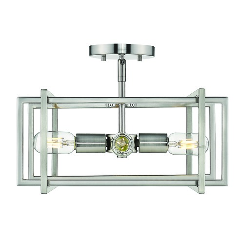 Golden Lighting Golden Lighting Tribeca Pewter Semi-Flushmount Light 6070-SFPW-PW