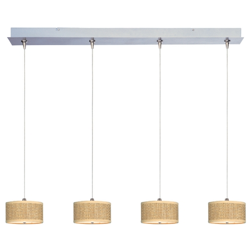 ET2 Lighting Modern Low Voltage Multi-Light Pendant Light with Brown Tones Shades and 4-Lights E95498-101SN