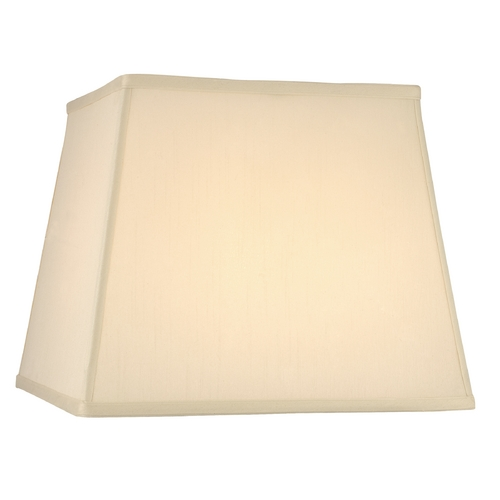 Design Classics Lighting Cream Silk Square Lamp Shade with Spider Assembly JJ DCL SH7634
