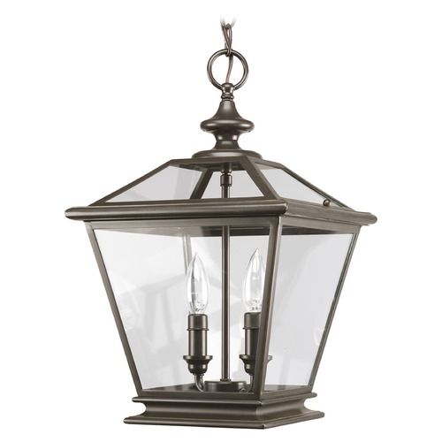 Progress Lighting Progress Pendant Light with Clear Glass in Antique Bronze Finish P3902-20