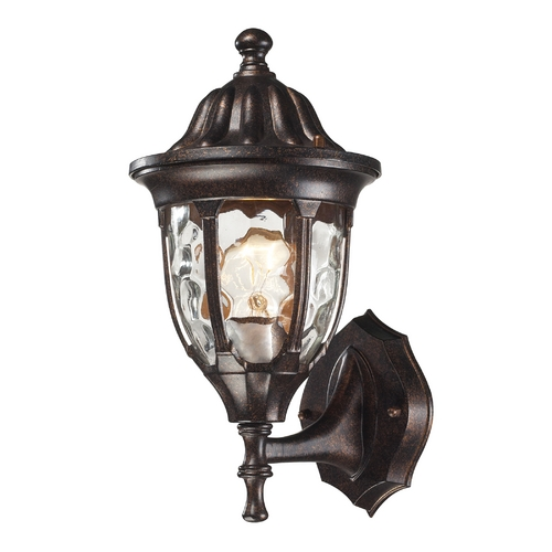 Elk Lighting Outdoor Wall Light with Clear Glass in Regal Bronze Finish 45000/1