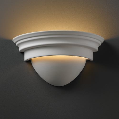 Justice Design Group Sconce Wall Light in Bisque Finish CER-1005-BIS