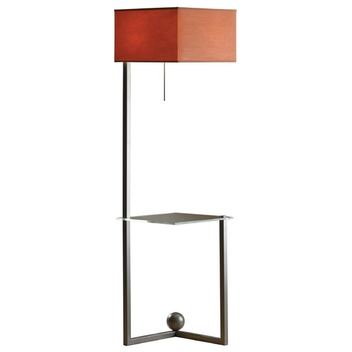 Hubbardton Forge Lighting Hubbardton Forge Lighting Balance Burnished Steel Floor Lamp with Square Shade 244101-08-875