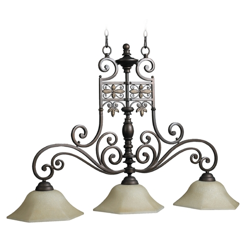 Quorum Lighting Quorum Lighting Marcela Oiled Bronze Island Light 6531-3-86