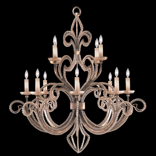Fine Art Lamps Fine Art Lamps a Midsummer Nights Dream Cool Moonlit Patina Crystal Chandelier 137140-2ST
