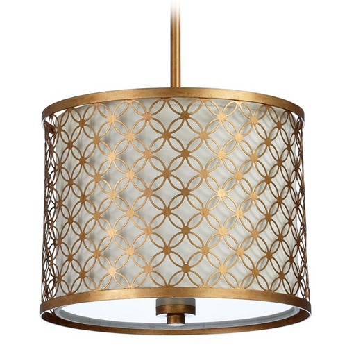 Cyan Design Cyan Design Calypso Gold Leaf Pendant Light with Drum Shade 04599