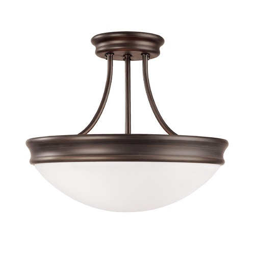 Capital Lighting Capital Lighting Oil Rubbed Bronze Semi-Flushmount Light 2037OR