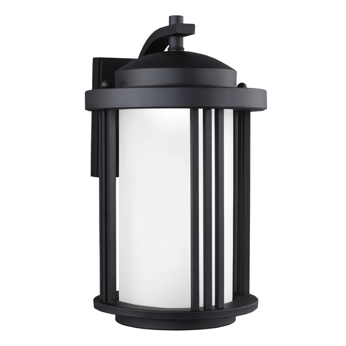 Sea Gull Lighting Sea Gull Crowell Black LED Outdoor Wall Light 8747991S-12