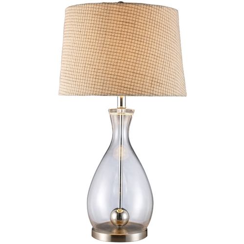 Elk Lighting Modern Table Lamp in Clear Glass and Chrome Finish D1975