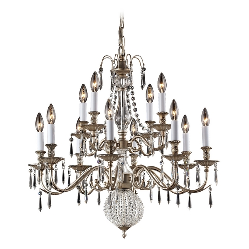Elk Lighting Crystal Chandelier in Aged Silver Finish 82021/8+4