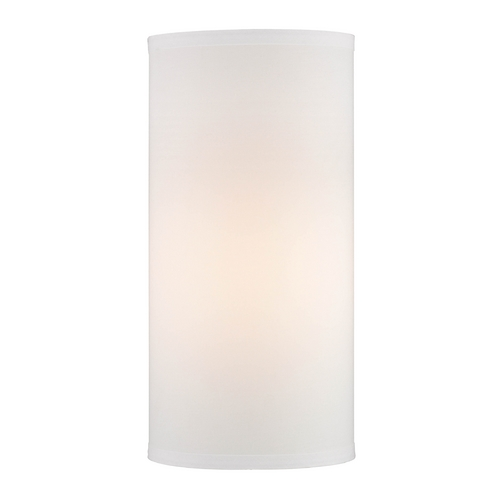 Design Classics Lighting 16-Inch Tall White Linen UNO Lamp Shade DCL SH7656