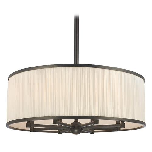Hudson Valley Lighting Hastings 8 Light Pendant Light Drum Shade - Old Bronze 5230-OB