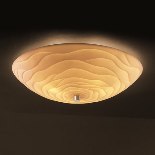 Justice Design Group Justice Design Group Porcelina Collection Semi-Flushmount Light PNA-9672-35-WAVE-NCKL