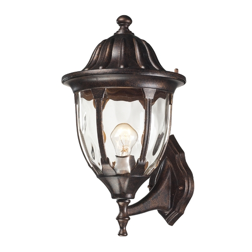 Elk Lighting Outdoor Wall Light with Clear Glass in Regal Bronze Finish 45001/1