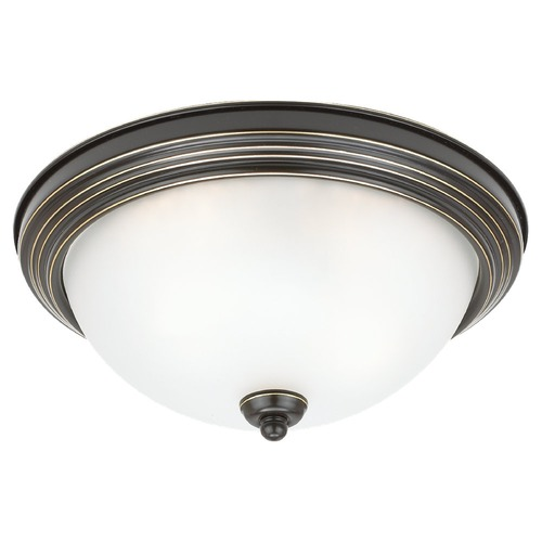 Sea Gull Lighting Sea Gull Lighting Ceiling Flush Mount Heirloom Bronze LED Flushmount Light 77064S-782