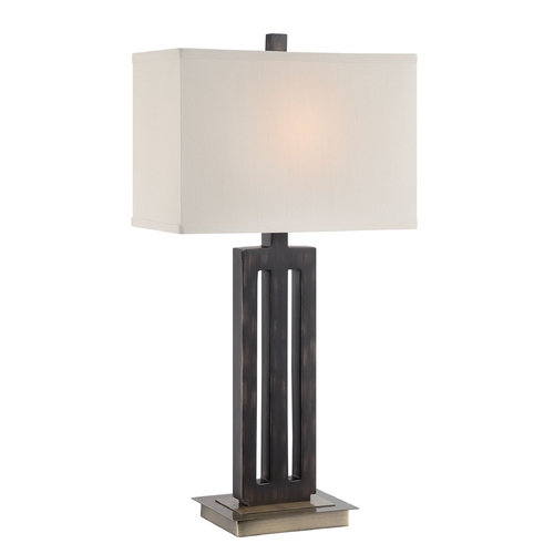 Lite Source Lighting Lite Source Lighting Wyman Dark Bronze Table Lamp with Rectangle Shade LS-22452