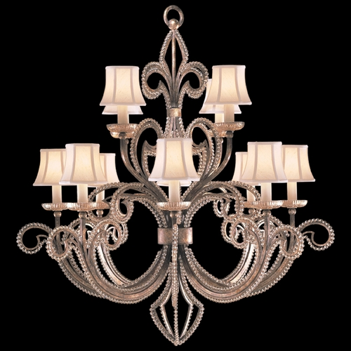 Fine Art Lamps Fine Art Lamps a Midsummer Nights Dream Cool Moonlit Patina Crystal Chandelier 137140ST