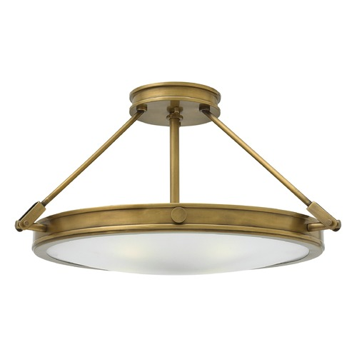 Hinkley Lighting Hinkley Lighting Collier Heritage Brass Semi-Flushmount Light 3382HB