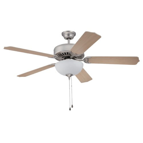 Craftmade Lighting Craftmade Pro Builder 207 Brushed Satin Nickel Ceiling Fan with Light K10644