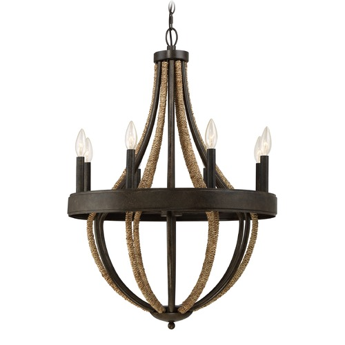 Quoizel Lighting Quoizel Lighting Pembroke Tarnished Bronze Chandelier PB5008TK
