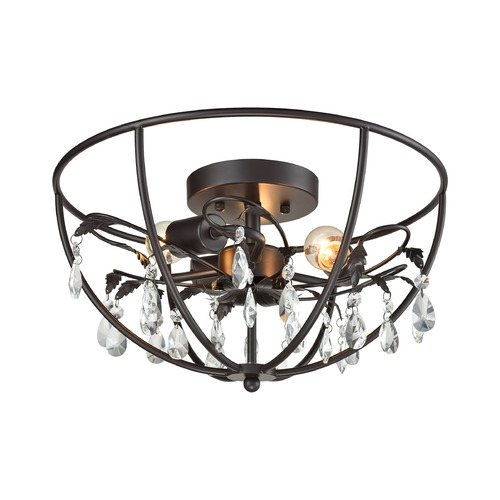 Elk Lighting Elk Lighting Bridget Oil Rubbed Bronze Semi-Flushmount Light 18221/3