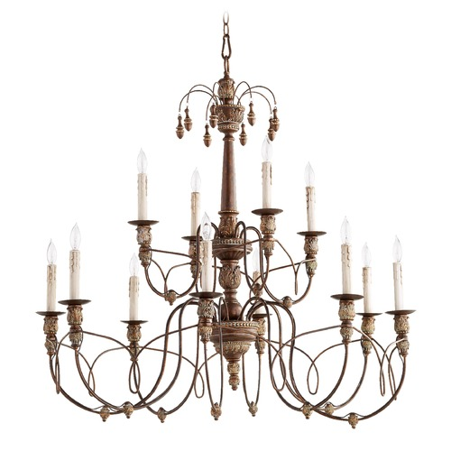 Quorum Lighting Quorum Lighting Salento Vintage Copper Chandelier 6106-12-39