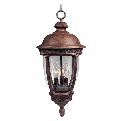 Maxim Lighting Outdoor Hanging Light with Clear Glass in Sienna Finish 3468CDSE