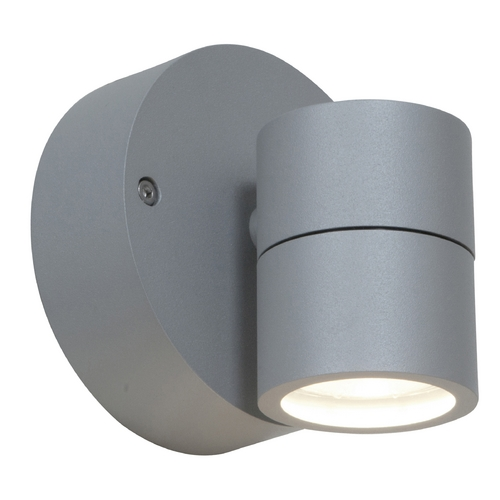 Access Lighting Outdoor Wall Light with Clear Glass in Satin Nickel Finish 20350MG-SAT/CLR