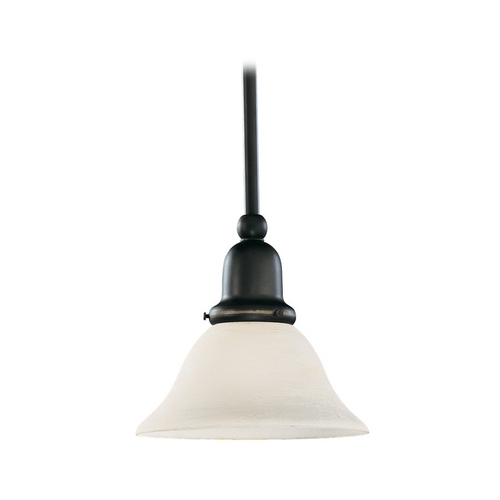 Sea Gull Lighting Mini-Pendant Light with White Glass 61060-782