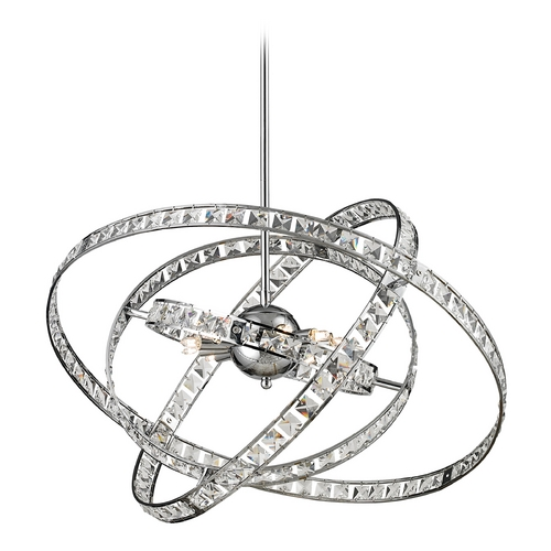 Elk Lighting Crystal Chandelier in Chrome Finish 82030/6