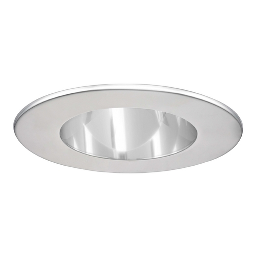 Recesso Lighting by Dolan Designs GU10 Clear Reflector Trim with Chrome Ring for 3.5-Inch Recessed Housings T351C-CH