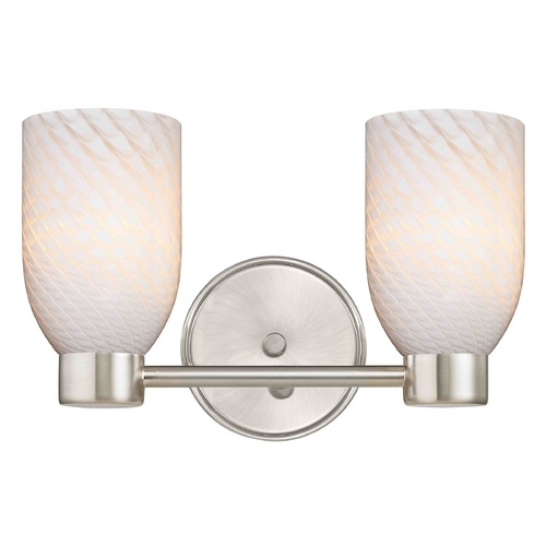 Design Classics Lighting Design Classics Aon Fuse Satin Nickel Bathroom Light 1802-09 GL1020D