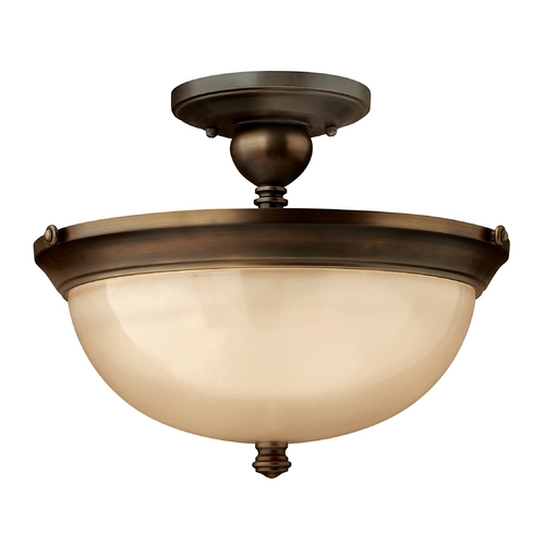 Hinkley Lighting Three-Light Semi-Flush Ceiling Light 4161OB