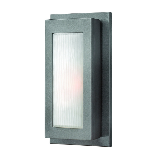 Hinkley Lighting Modern Outdoor Wall Light with White Glass in Hematite Finish 2050HE
